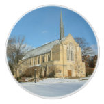Harbison Chapel in Winter at Grove City College Ceramic Knob