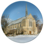 Harbison Chapel in Winter at Grove City College Dinner Plate