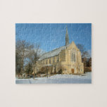 Harbison Chapel in Winter at Grove City College Jigsaw Puzzle