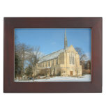 Harbison Chapel in Winter at Grove City College Memory Box