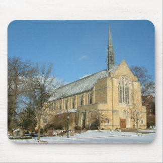 Harbison Chapel in Winter at Grove City College Mouse Pad