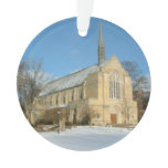 Harbison Chapel in Winter at Grove City College Ornament