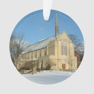 Harbison Chapel in Winter at Grove City College Ornament
