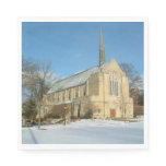 Harbison Chapel in Winter at Grove City College Paper Napkin