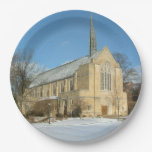 Harbison Chapel in Winter at Grove City College Paper Plate