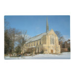 Harbison Chapel in Winter at Grove City College Placemat