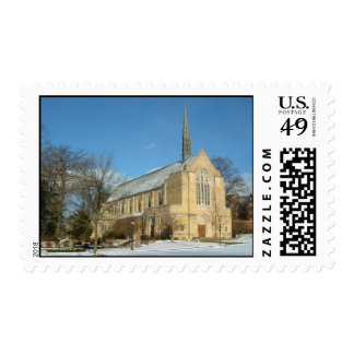 Harbison Chapel in Winter at Grove City College Postage