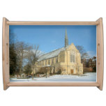 Harbison Chapel in Winter at Grove City College Serving Tray