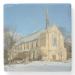 Harbison Chapel in Winter at Grove City College Stone Coaster