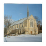 Harbison Chapel in Winter at Grove City College Tile