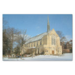 Harbison Chapel in Winter at Grove City College Tissue Paper