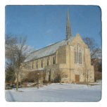 Harbison Chapel in Winter at Grove City College Trivet