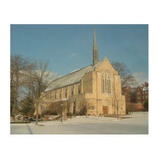 Harbison Chapel in Winter Grove City College Photo Wood Wall Decor