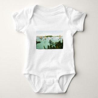 Harbor and Yacht Club, Bar Harbor, Maine Baby Bodysuit