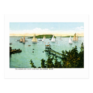 Harbor and Yacht Club, Bar Harbor, Maine Postcard