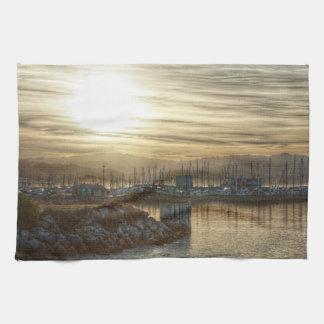 Harbor at Dawn 3 Hand Towels