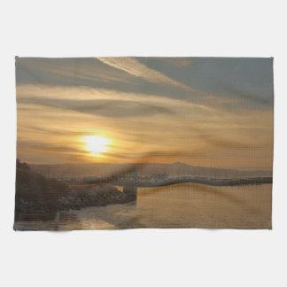 Harbor at Dawn Towel