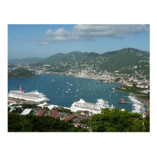 Harbor at St Thomas Postcard