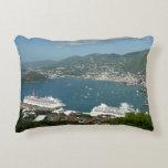 Harbor at St. Thomas US Virgin Islands Decorative Pillow