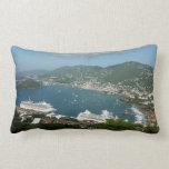 Harbor at St. Thomas US Virgin Islands Lumbar Pillow