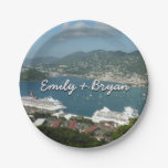 Harbor at St. Thomas US Virgin Islands Paper Plate