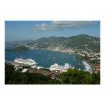 Harbor at St. Thomas US Virgin Islands Poster
