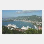 Harbor at St. Thomas US Virgin Islands Rectangular Sticker