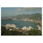 Harbor at St. Thomas US Virgin Islands Wood Poster