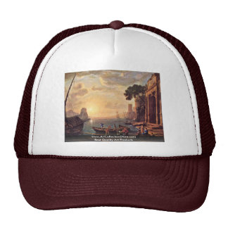Harbor At Sunset By Lorrain Claude Trucker Hat