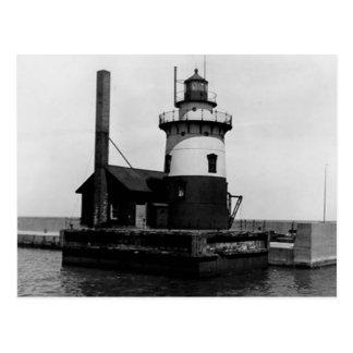 Harbor Beach Lighthouse Postcard