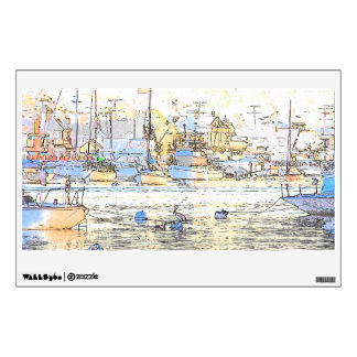 Harbor Boats Art Wall Decal