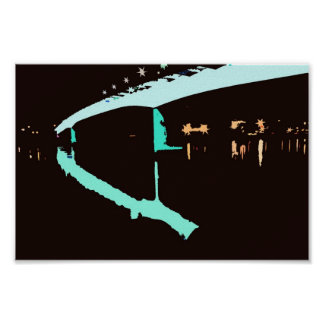 Harbor Bridge Reflected Graphic Poster