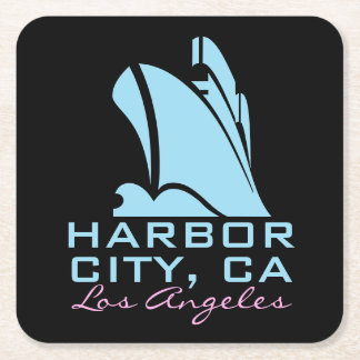Harbor City California Square Paper Coaster