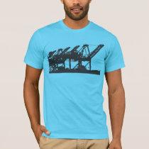 Harbor Cranes Turquoise T-Shirt