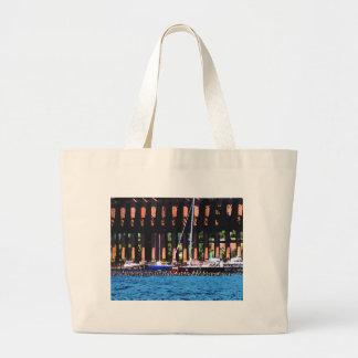 Harbor Docks Canvas Bags
