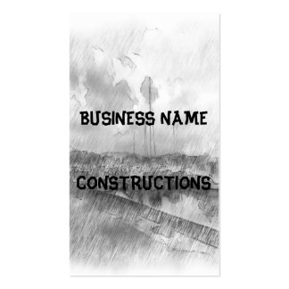 Harbor drawing effect business cards