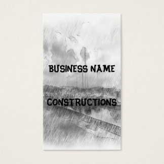 Harbor drawing effect business card