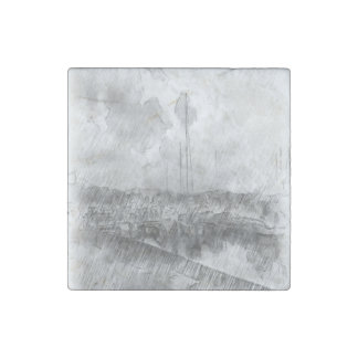 Harbor drawing effect stone magnet
