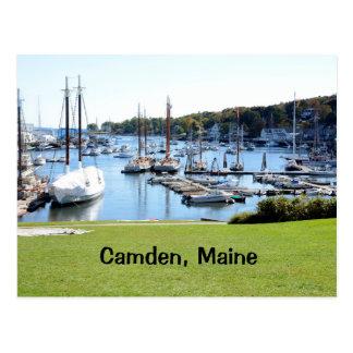 harbor in Camden, Maine Postcard