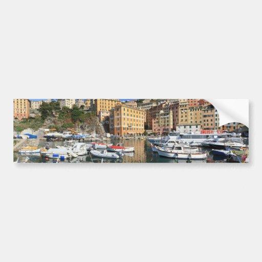 harbor in Camogli Car Bumper Sticker