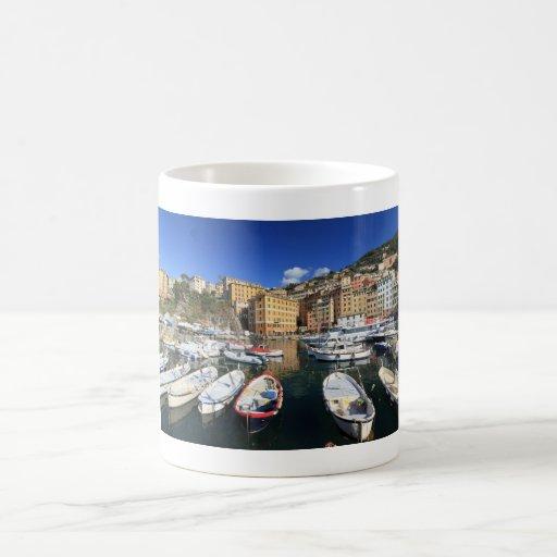 harbor in Camogli Classic White Coffee Mug