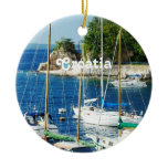 Harbor in Croatia Ceramic Ornament