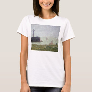 Harbor in Honfleur 2 by Georges Seurat T-Shirt