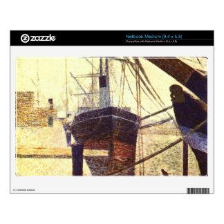 Harbor in Honfleur by Georges Seurat Skin For Netbook