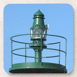 Harbor lighthouse beverage coaster