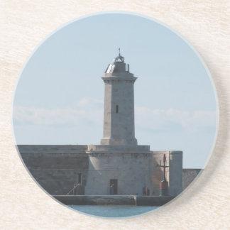 Harbor lighthouse drink coaster