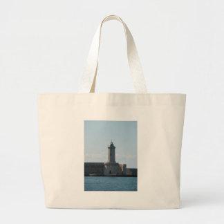 Harbor lighthouse large tote bag