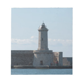 Harbor lighthouse notepad