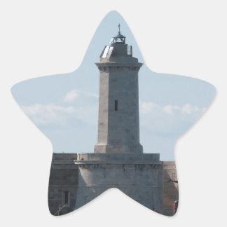 Harbor lighthouse star sticker