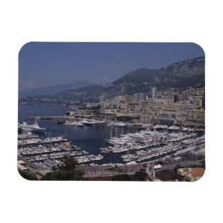 Harbor, Monte Carlo, French Riviera, Cote d' 3 Rectangle Magnet